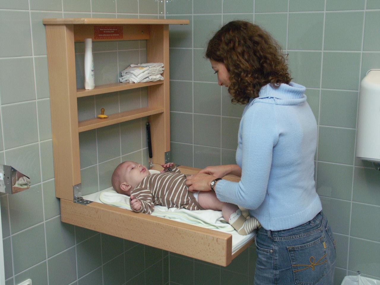 Robust väggskötbord en säker plats för ditt barn